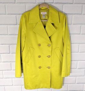 Isaac Mizrahi Chartreuse Pea Coat